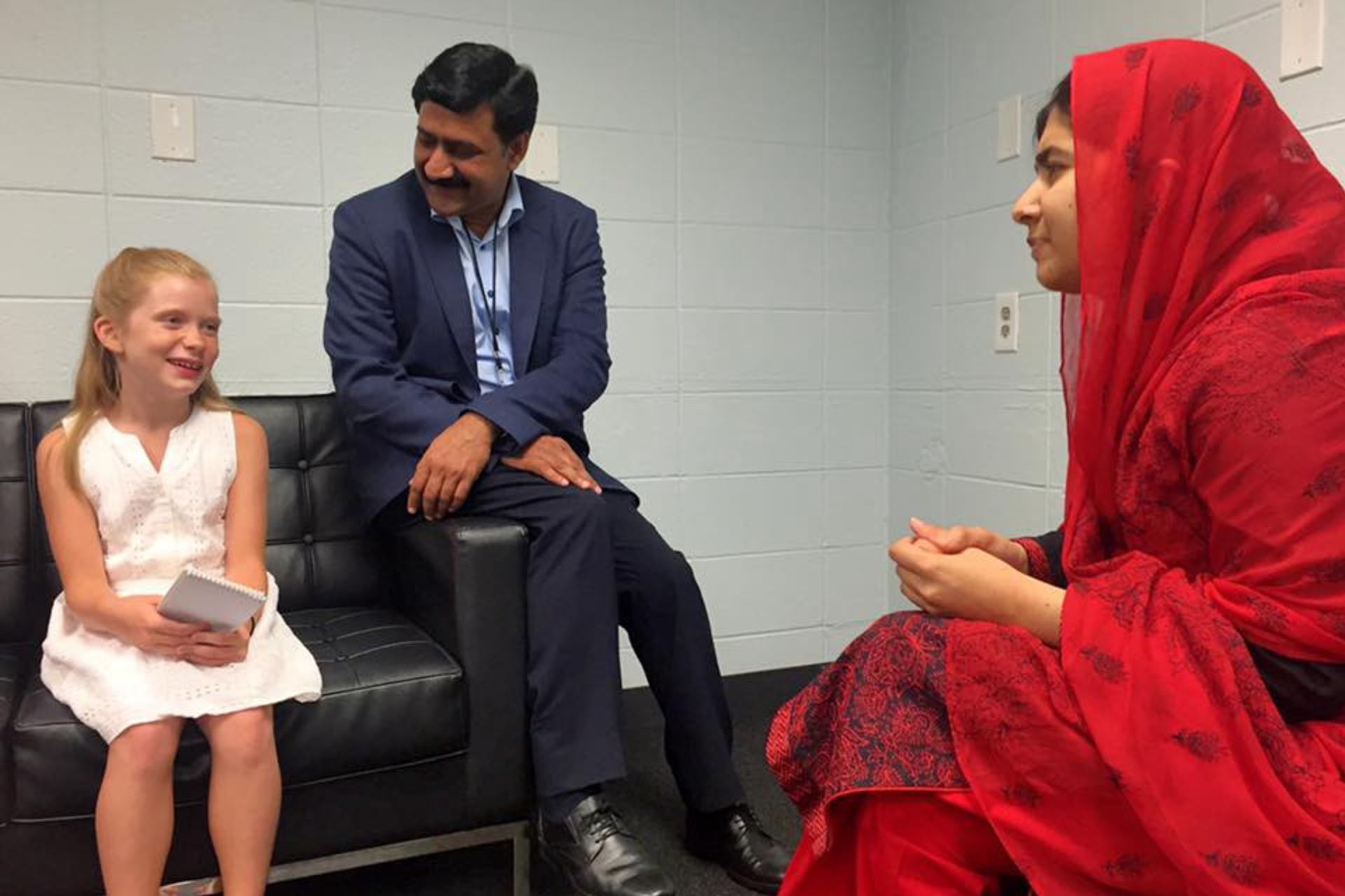 Hilde with Malala and Ziauddin in July 2016.
