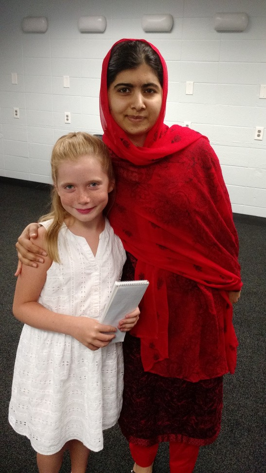 Hilde with Malala in July 2016.