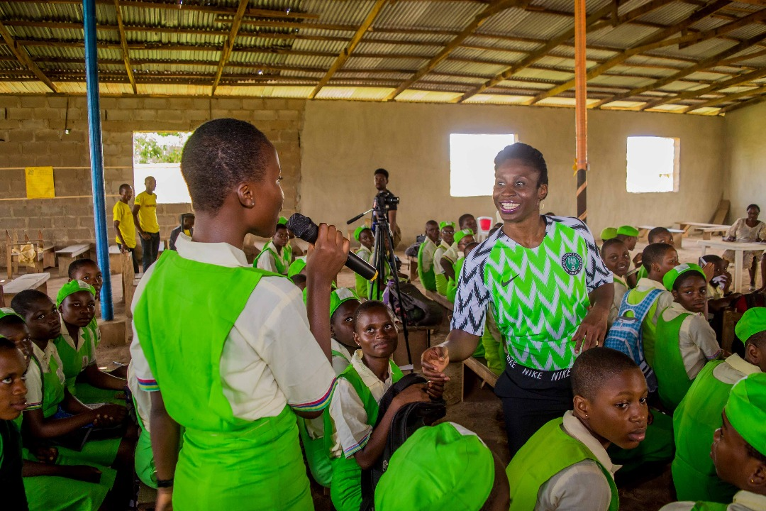 Through her SimiSleighs Leadership and Sports Master Class, Simi is working to inspire the next generation of female leaders in Nigeria. (Courtesy of Simidele Adeagbo)