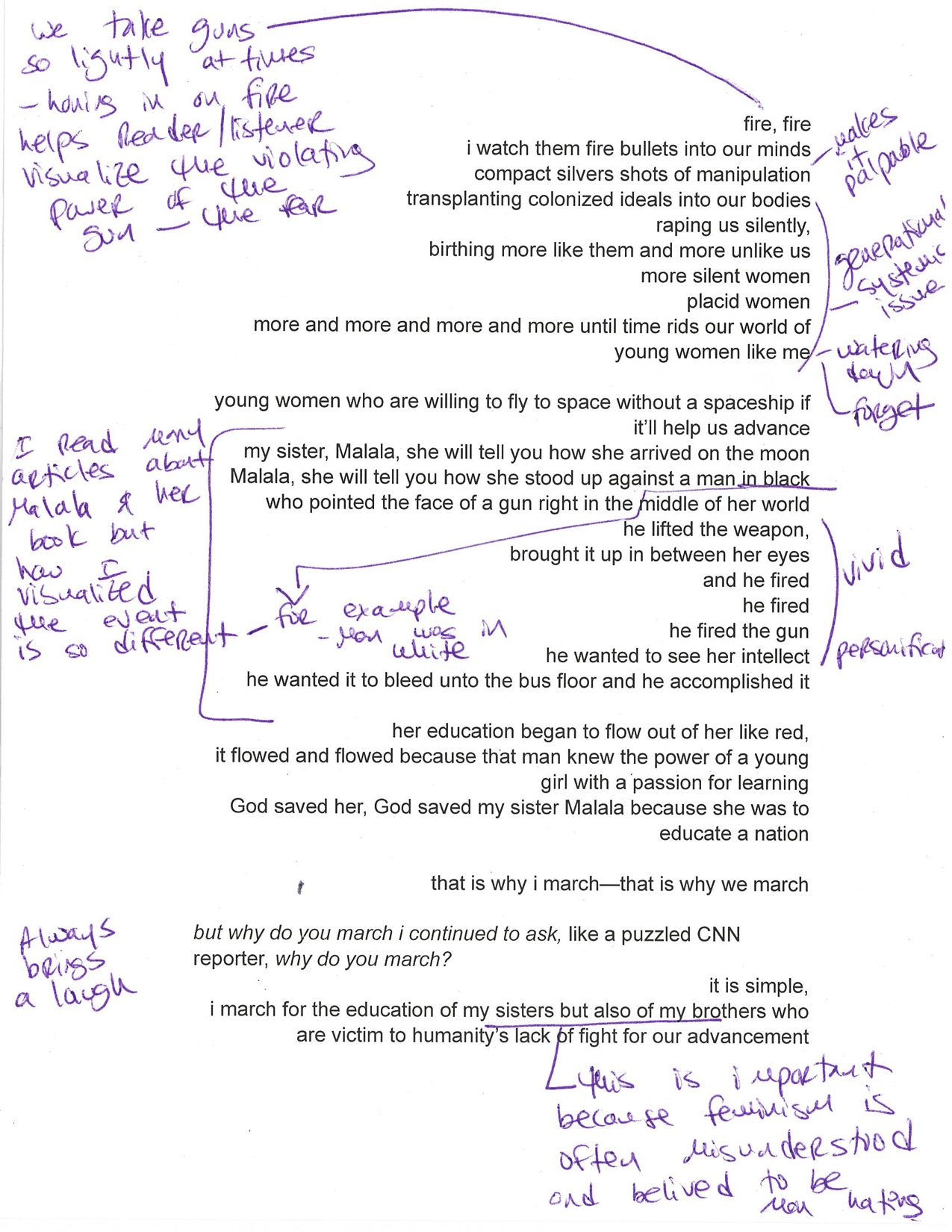"Flose takes Assembly readers into her creative process with this annotated version of ""March on Sister."""