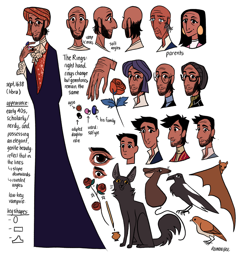 Reimena's character design for Zeyne. (Courtesy of Reimena Yee)