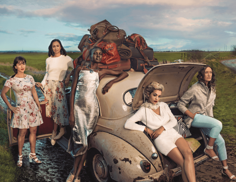 """Roma Agrawal appeared in the M&S """"Leading Ladies"""" campaign photographed by Annie Leibovitz. (Courtesy of  Roma The Engineer )"""