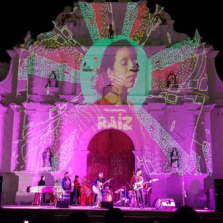 Sara's Gira Comunitaria concert in her hometown of San Juan Comalapa.