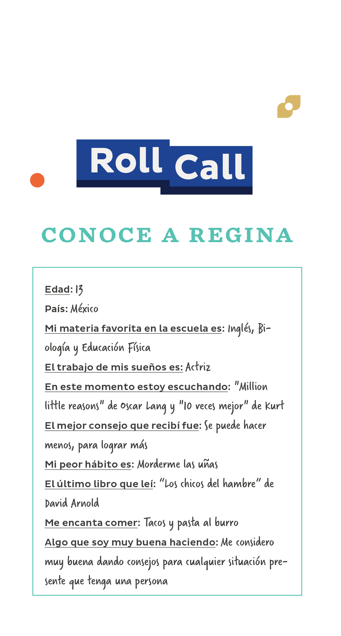 RollCall_FastFacts_ReginaSpanish.png