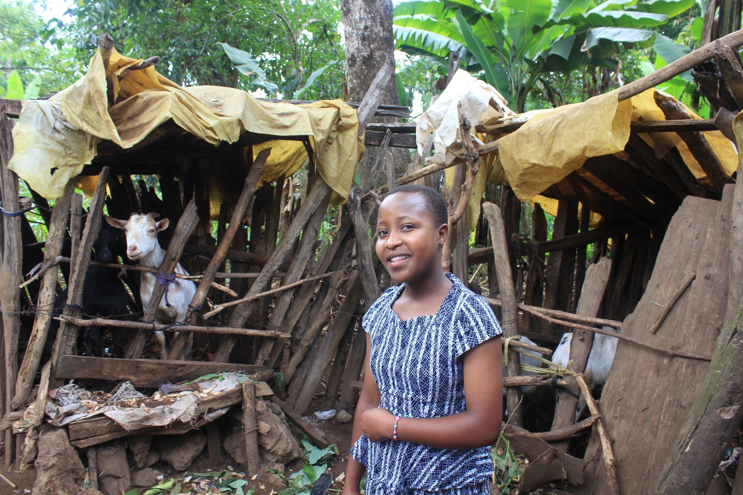 Melanie in her village in the foothills of Mt. Kilimanjaro. (Courtesy of Nano Chatfield / The Girls Foundation of Tanzania)