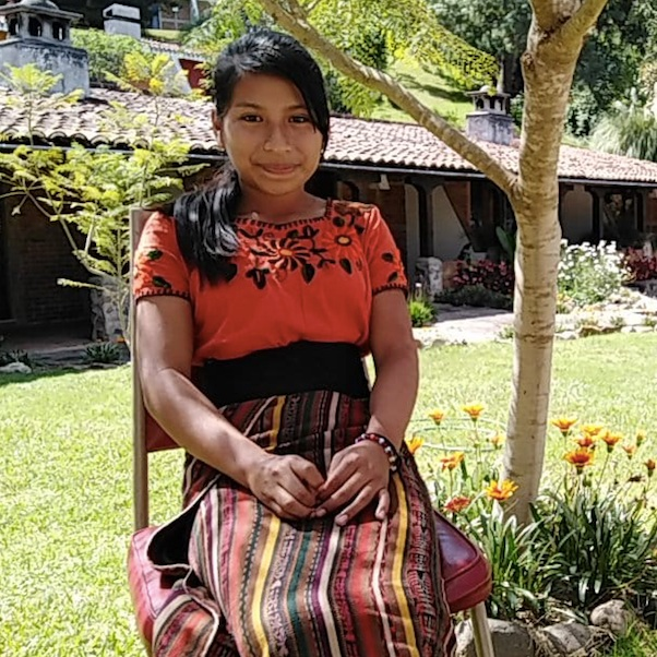 "Sara is a 13-year-old Maya Quiché student who participated in GoJoven's leadership camp in 2018. ""I would like girls to keep studying and to not get married early,"" Sara says of her hopes for the future. (Courtesy of GOJoven Guatemala)"