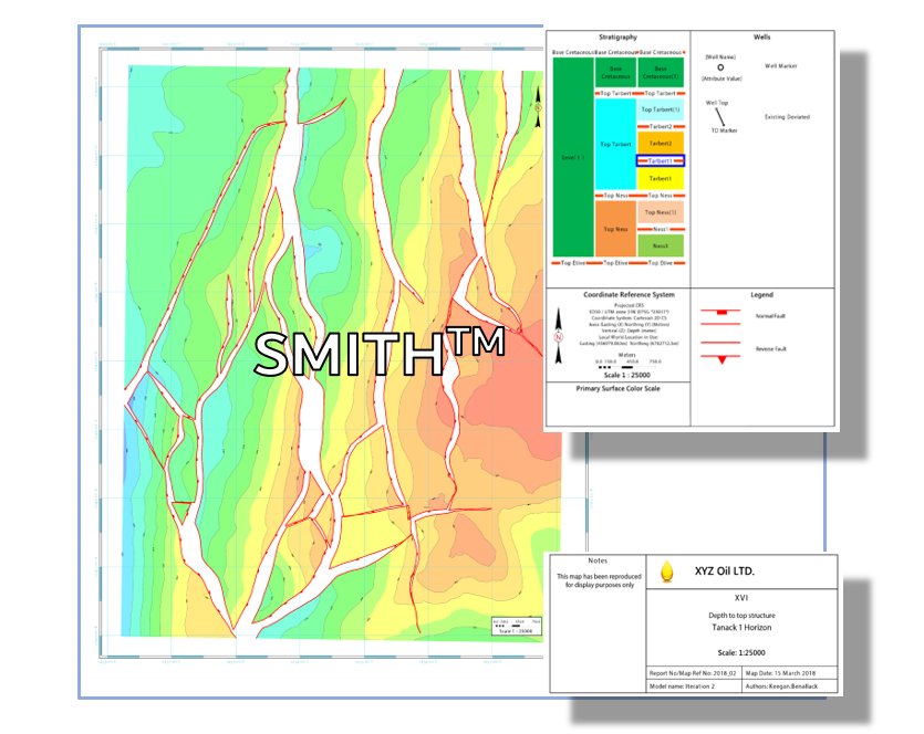 SMITH  is a new age map design and rendering tool developed to support the visualization and publication of 2D geoscience spatial data throughout the workflows supported by industry-leading E & P software platforms.