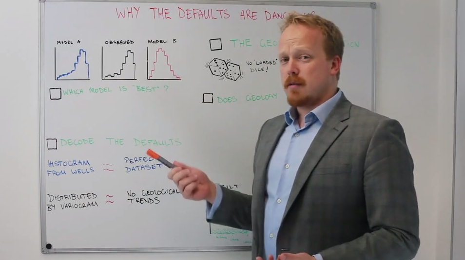 Why The Defaults Are Dangerous - This week, Luke takes a look at the dangers in using defaults in geological property modelling, and how the obvious answer isn't always the best one.