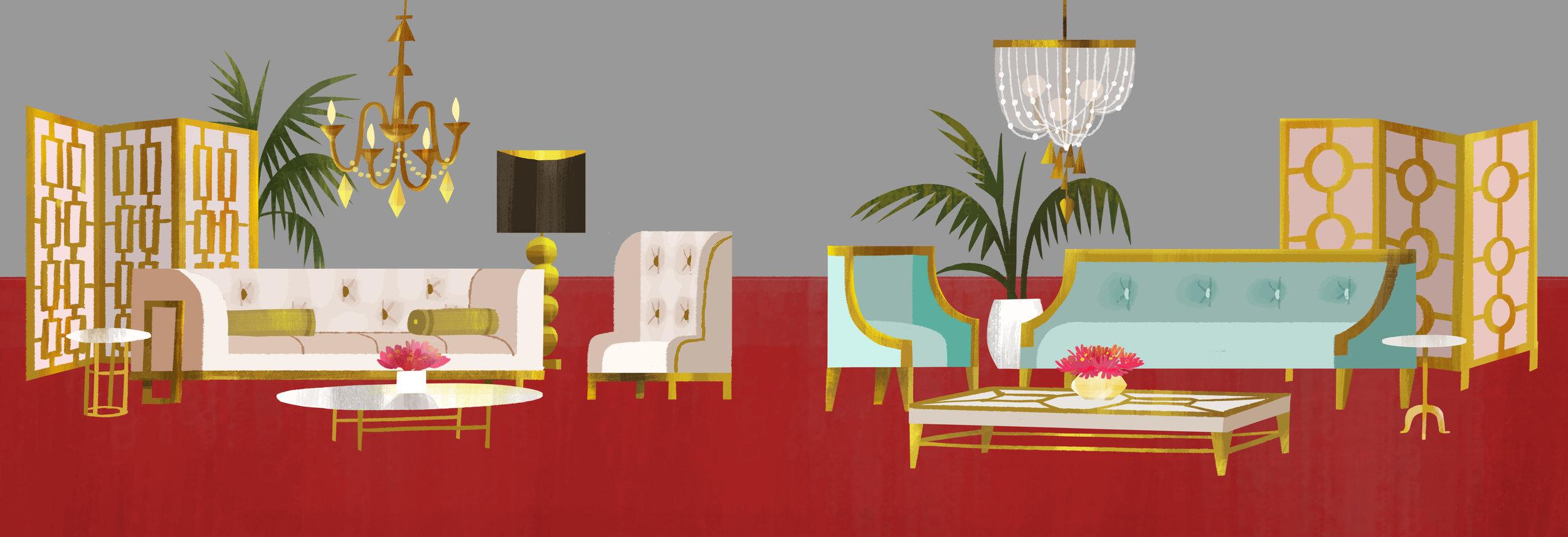 Emoji VIP Lounge furniture design