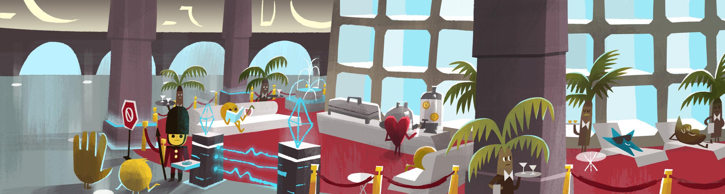 Emoji VIP Lounge design