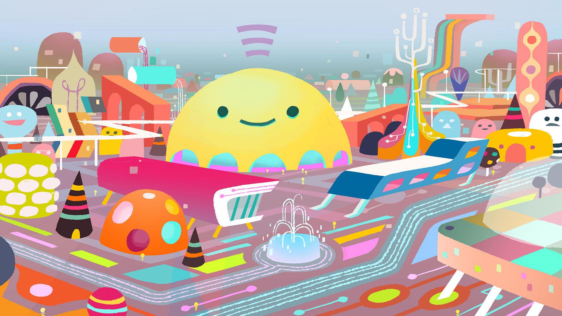 Early emoji city exploration