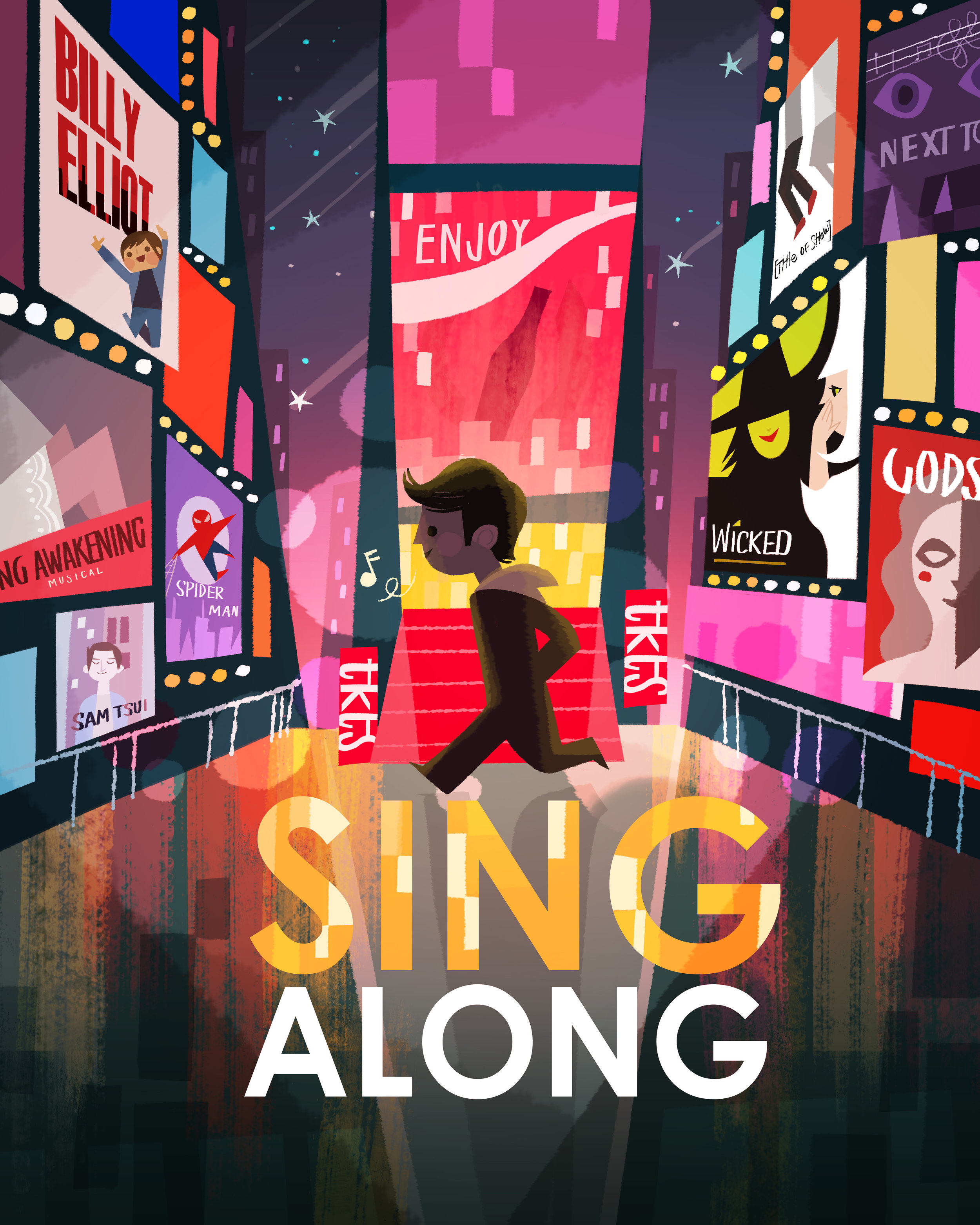 Promo poster for Sing Along the musical
