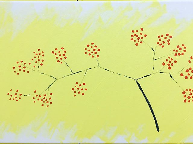 On the cusp of a trip to discuss #marine #conservedareas at the Food and Agriculture Organisation in Rome, here is a simple painting celebrating the northern spring #blossom #yellowfields #redflowers @fao @ashokachangemakers #trees #nature