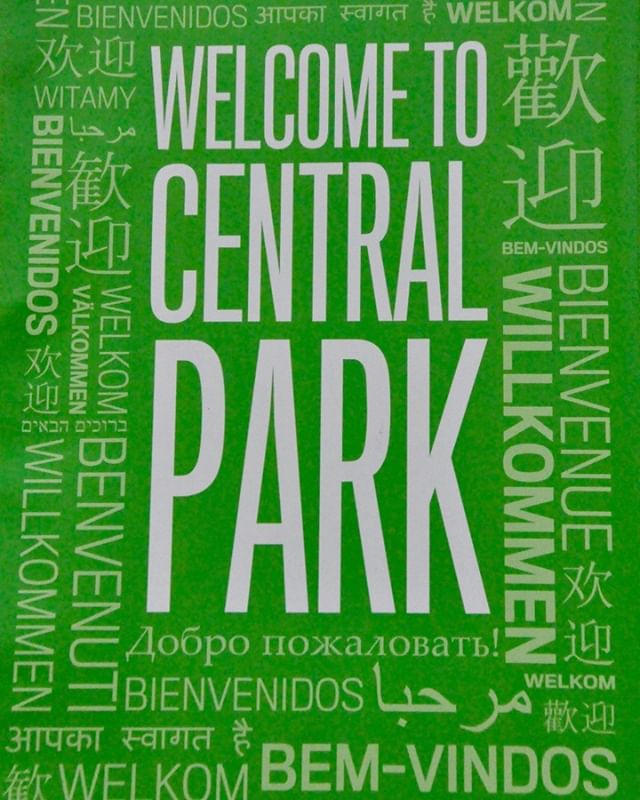 The best thing about #nyc? The sheer #diversity of human experience. Just a handful of languages spoken in the #bigapple on a #centralpark welcome sign. 🍎🗽 Thank you @centralparknyc @nycparks for doing what you do to keep #nature alive in the #city, including for visitors like us! 💯
