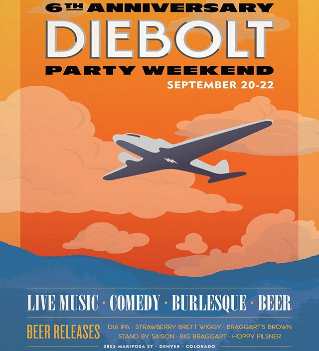 So stoked to be a part of @dieboltbrewing 's 6th Anniversary Party! It's 3 days of fun but come Saturday to see @dizzieink #screenprinting #live from 2-8pm! I'll be printing the official anniversary tee as well as their classic logo.  Come drink some delicious beer, eat some yummy food from @leeverslocavore and snag a tee printed by yours truly right before your eyes! Afterwards, stay for the variety show starting at 8pm. You won't want to miss out! #dieboltbrewing #anniversaryparty #livescreenprinting #letshavesonefun #drinkbeer #iheartinking