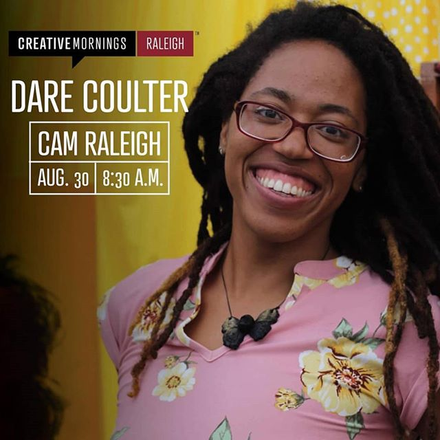 Three days!! So excited to be presenting at @cm_rdu this Friday :) I know I still owe y'all cowboy pictures, but this will be good! This is basically my first TED talk 😉  August 30th 2019 8:30 am at CAM (Contemporary Art Museum Raleigh), 409 W Martin St, Raleigh, NC  Free tickets, but registration is required! Tickets are available at  https://tinyurl.com/TixForDareCM  Photo by the amazing Anne @mclean.ak of @kairos.studios