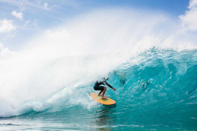 Joel Tudor Surfing,Pipeline, North Shore, Oahu.