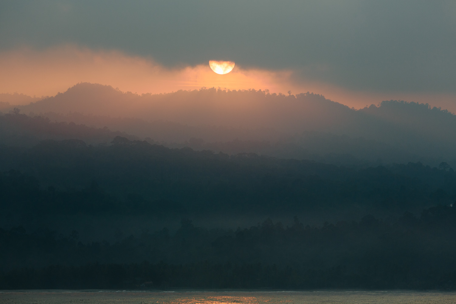 Sumatran Sunrise, Travel Photography, Landscape Photography