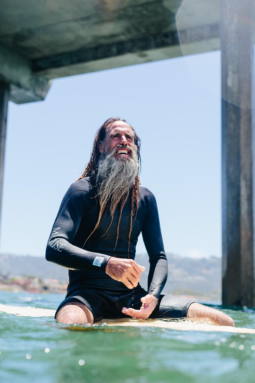 John Haffey Surfing, Scripps Pier, La Jolla, CA