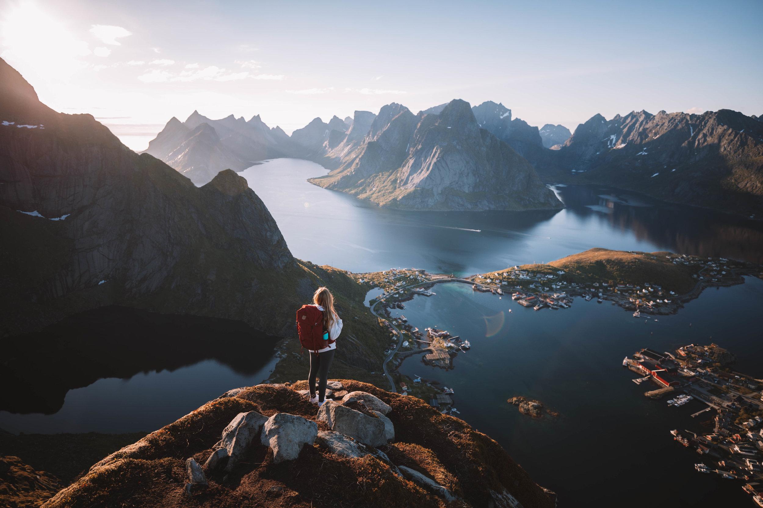 Stunning views as a reward after a fun hike on Lofoten islands.