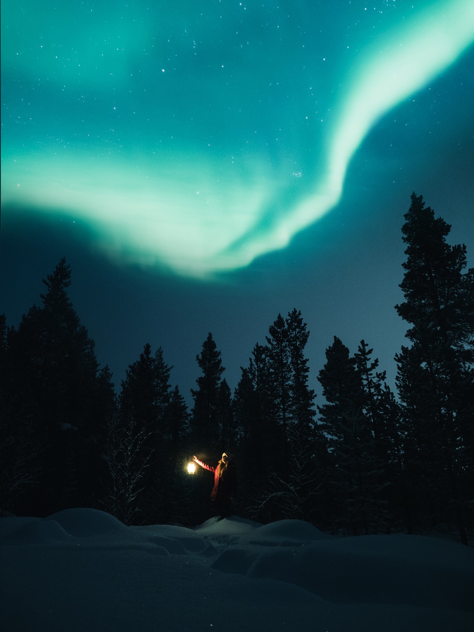 Chasing the northern lights - ..should be on your list when you make it to Finland during winter. If the skies are clear at night, drive a little away from the cities and watch the aurora dance across the sky.