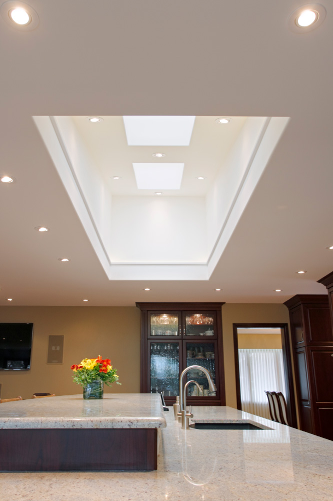 4' x 12' Skylight with LED strip lighting