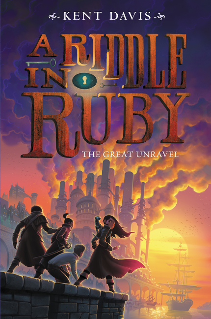 """""""A Riddle In Ruby has everything you could possibly want from a story: clever heroes, fiendish villains, startling plot twists, pirates, thieves, swashbuckling, adventure, action, mayhem - and plenty of humor. This is an exceptionally enjoyable, incredibly original series.""""— Stuart Gibbs, author of the  New York Times -bestselling Spy School saga"""