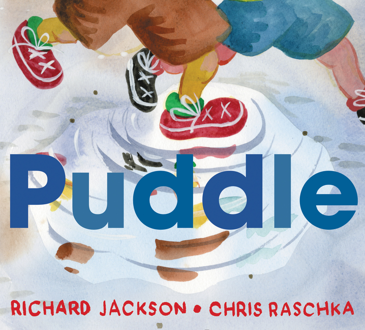 """""""A self-conscious puddle. . .finds purpose as she interacts with her environment and reflects the world's beauty while finding her own. . . .Expressionistic paintings, done in watercolor with gouache, play like music. . . .Luminous and lovely, with colors to fill the soul.""""—  Kirkus   (starred review)"""