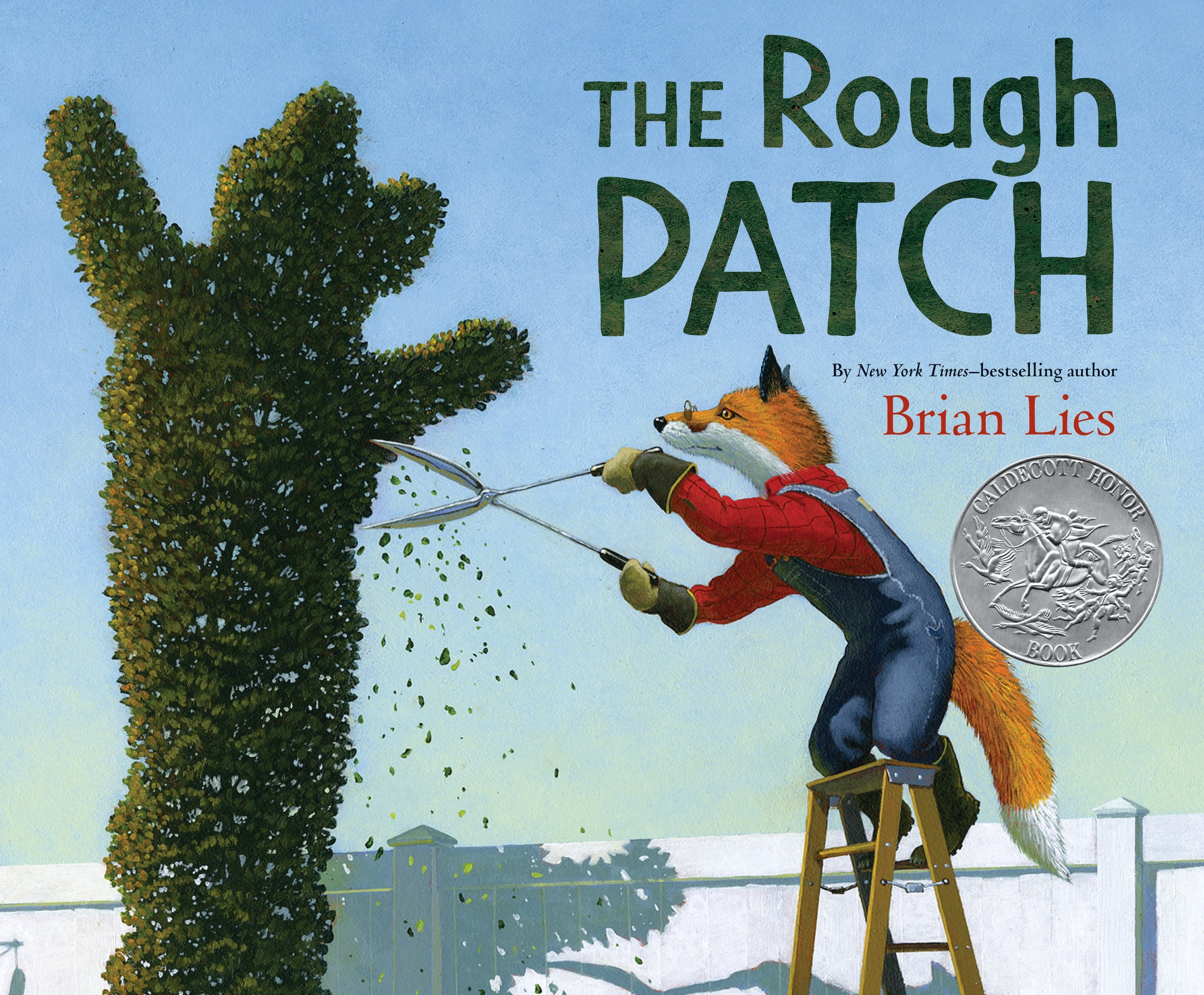 """""""Grief is the watchword—though it's never stated—in The Rough Patch, a weepy and wonderful picture book by Brian Lies. ...As Evan's sorrow turns to rage and then destruction, the reader watches with distress and then with rising hope as the garden, with time, offers the grief-stricken fox a way back to happiness.""""—  Wall Street Journal"""