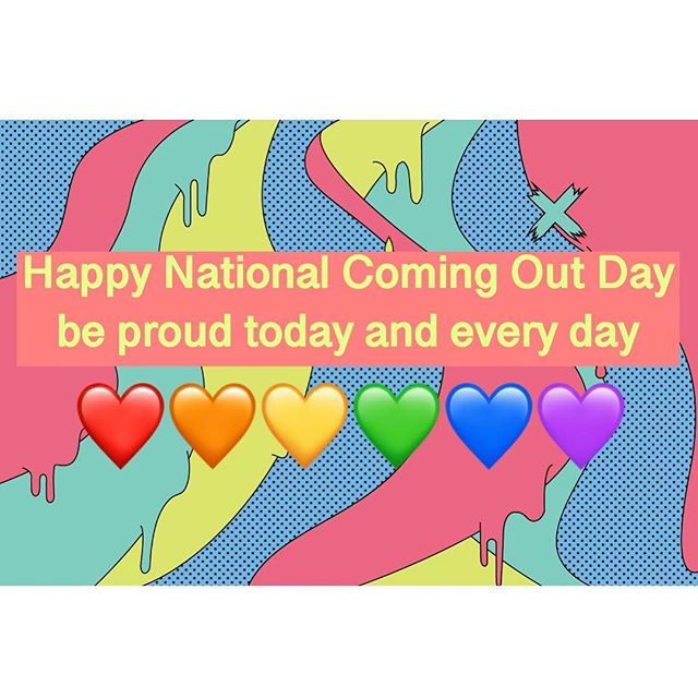 🌈 Happy #nationalcomingoutday !!!whether you are already out or not quite yet, your identity is valid and you should be proud of who you are. 🏳️‍🌈