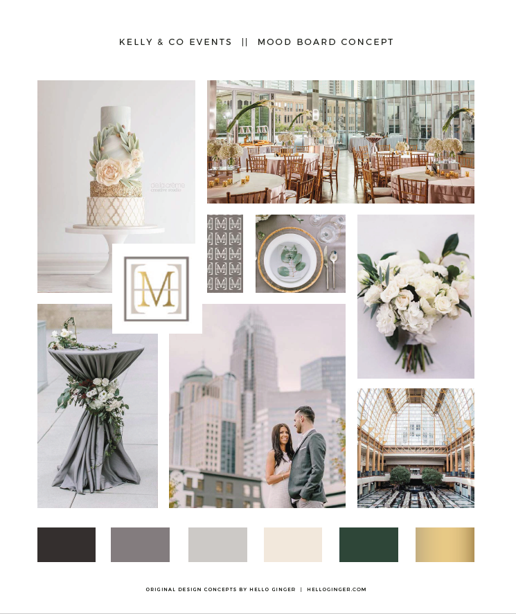 The Inspiration - One of the very first steps in the rebranding process was conveying to Susannah with Hello Ginger what vibe we were going for. She took our ideas and created this beautiful mood board. The mood board served as inspiration for the branding concept.