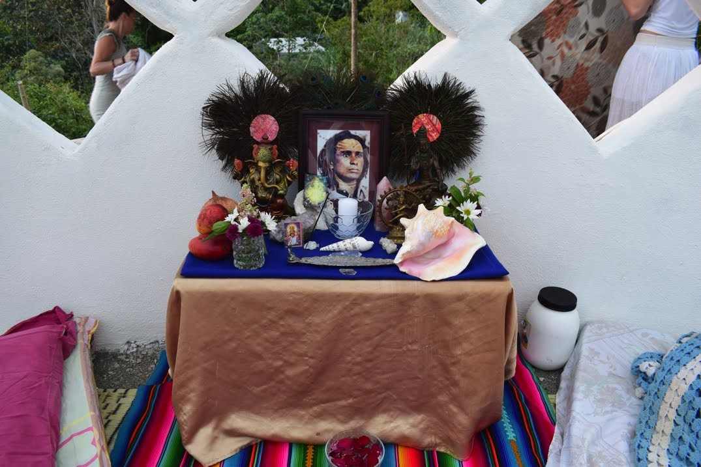 06 Babaji altar, Fire&Aya Ceremony, 31.jan 18.JPG