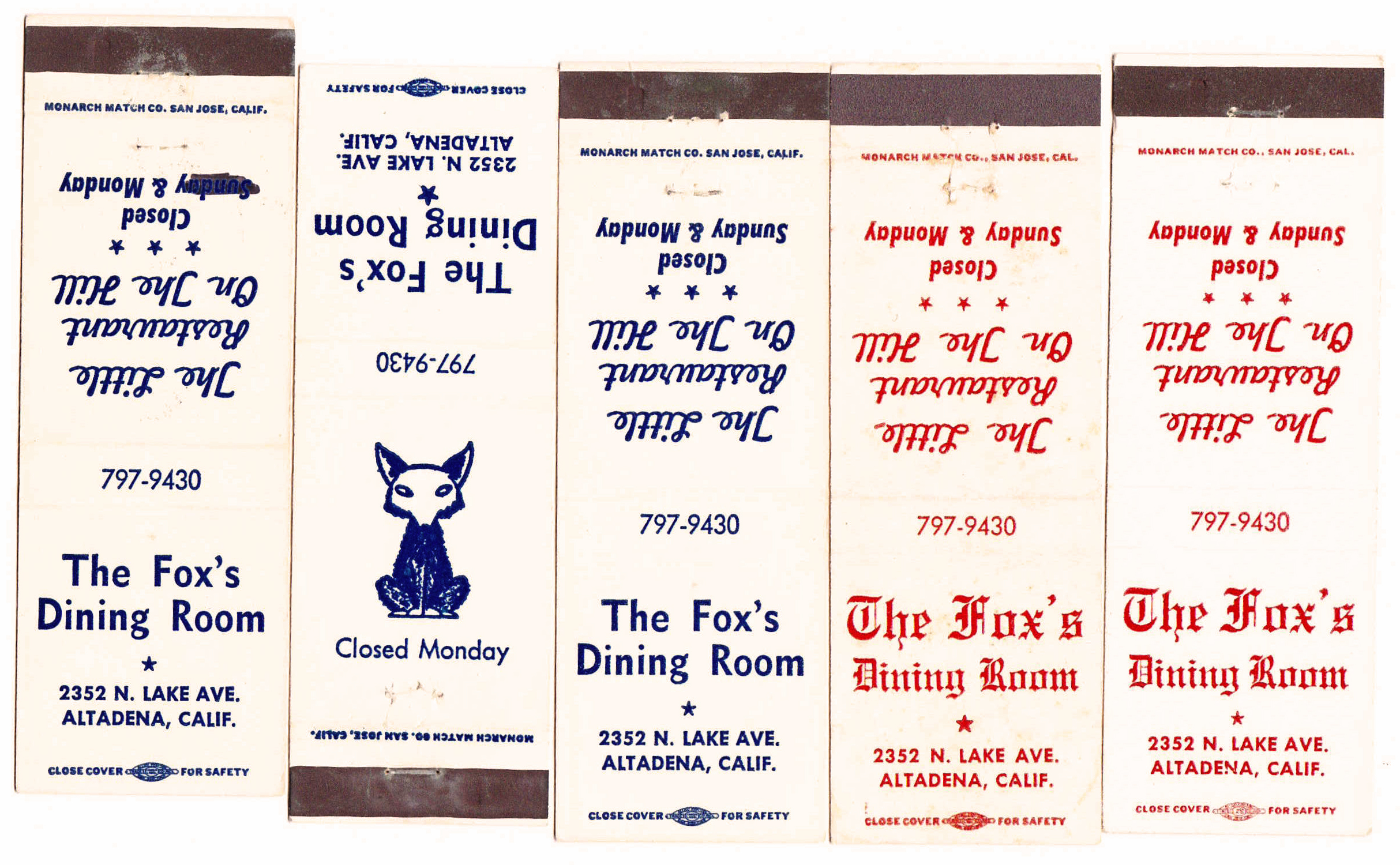 Fox Matchbooks.jpg