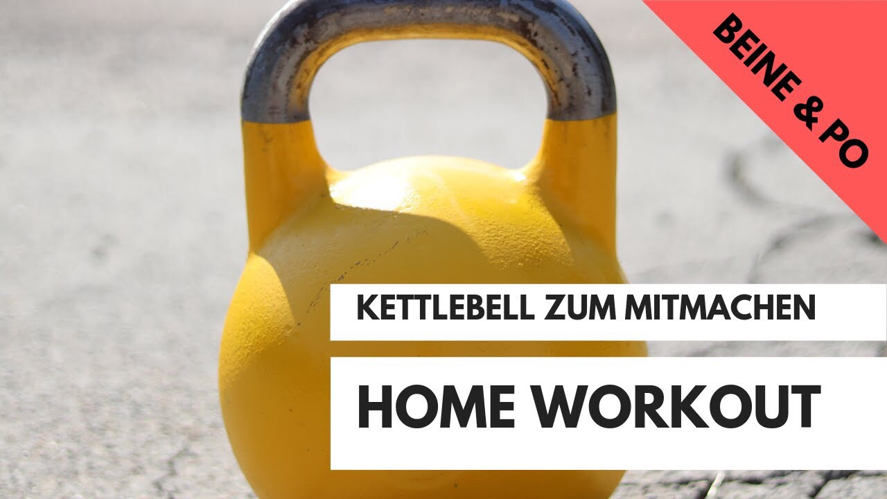 Bein-Training - Ziel: Muskelaufbau BeineLevel: geübtDauer: 23 min.Trainingsgerät: 1 Kettlebell