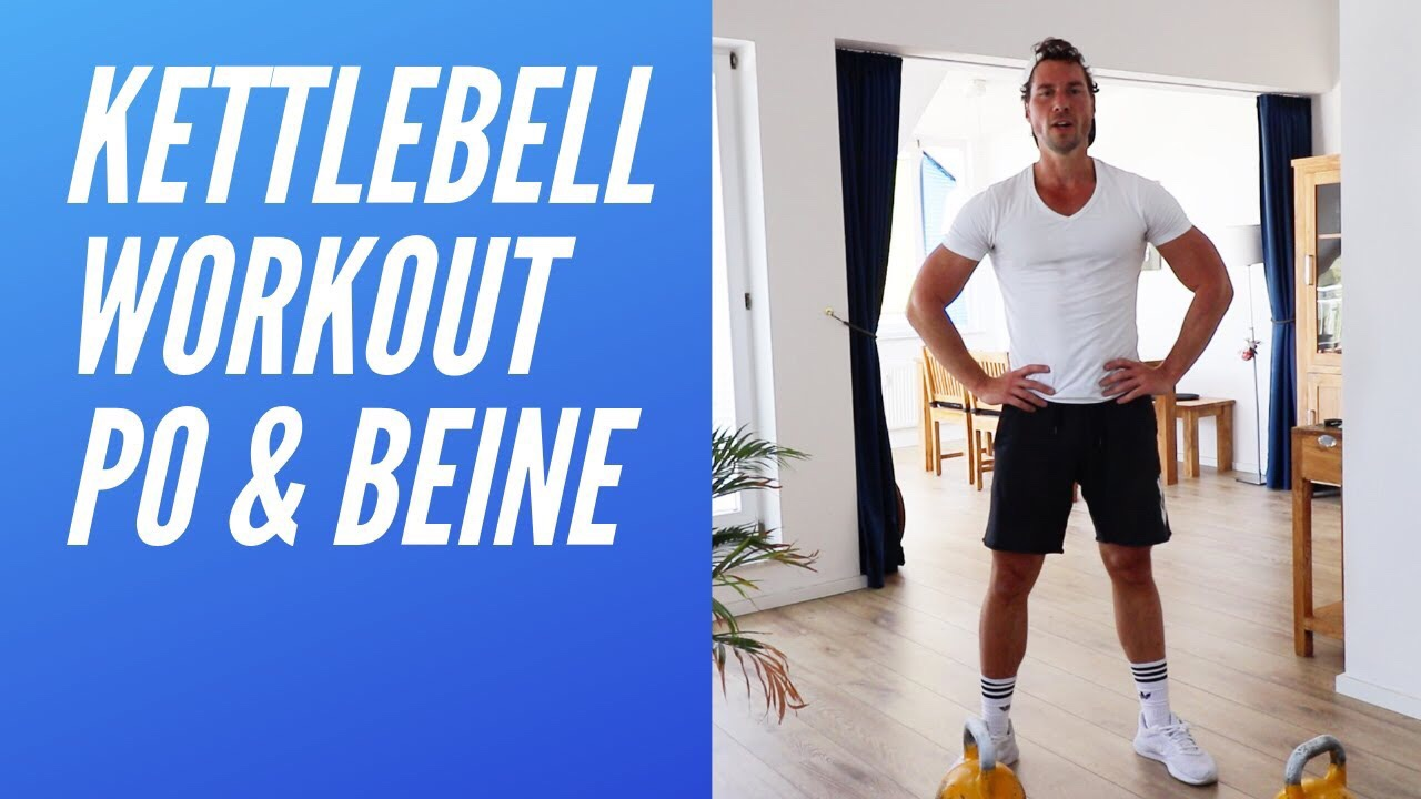 Beine & Po - Ziel: Gut geformte Bein und PoLevel: Einsteiger bis FortgeschritteneDauer: 16 min.Trainingsgerät: 2 Kettlebells