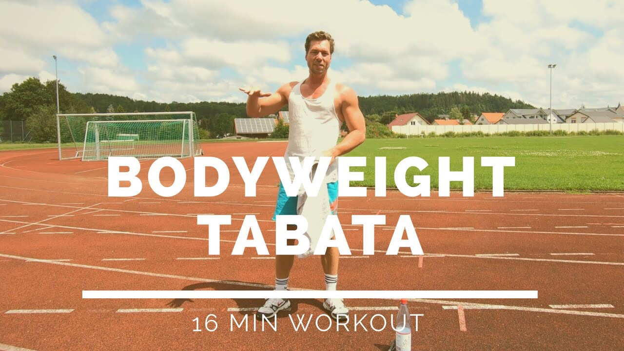 Tabata Workout - Ziel: Kraft & KonditionLevel: Mässig FortgeschrittenDauer: 16 min.Trainingsgeräte: Eigenes Körpergewicht