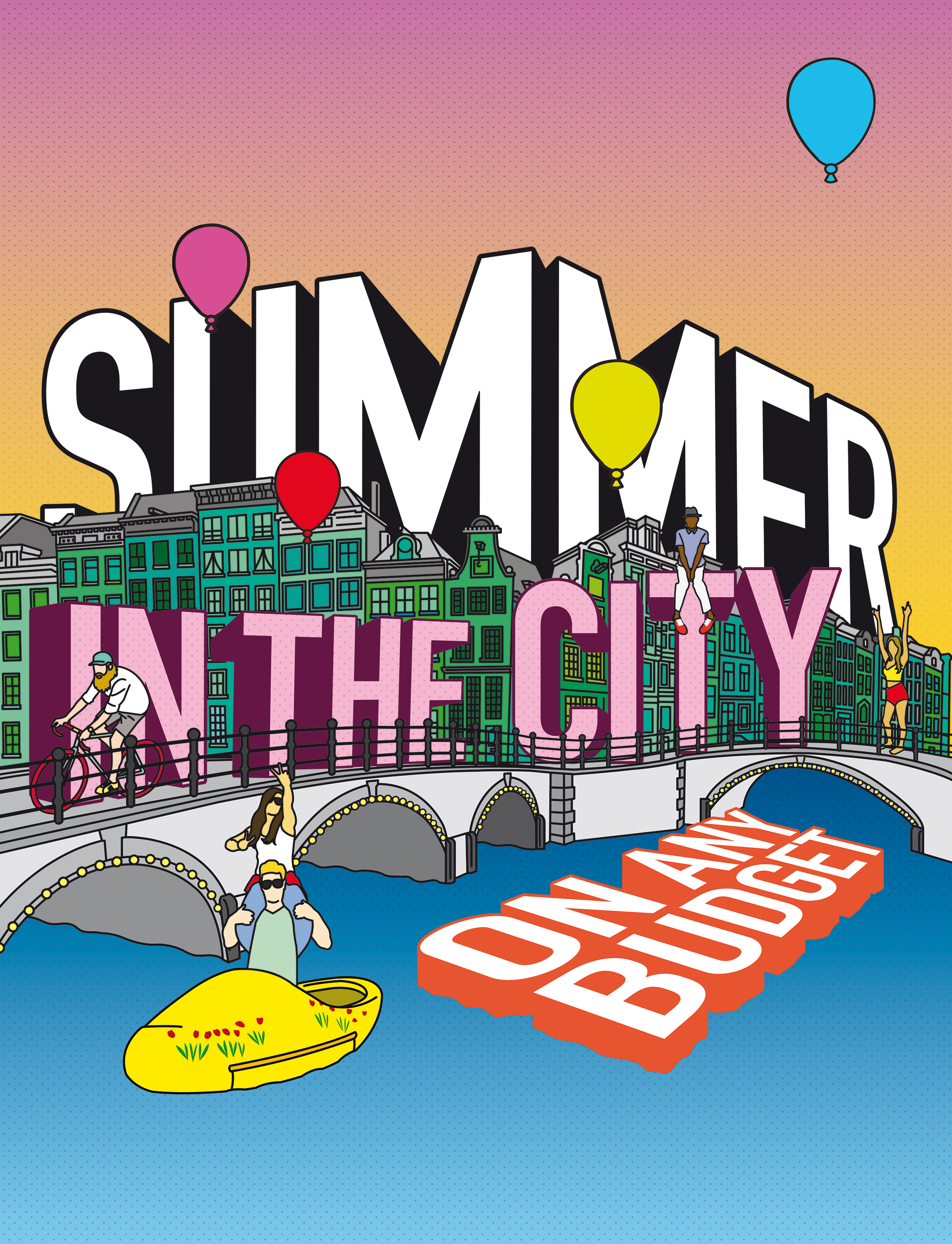 Summer in the City cover illustration for Amsterdam Magazine