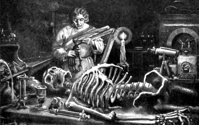Mary Shelley's Frankenstein. Public domain image.