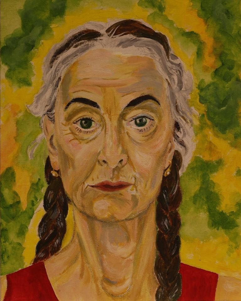 Zelfportret - 2014 - Acryl op schilderskarton, 30 x 24 cm