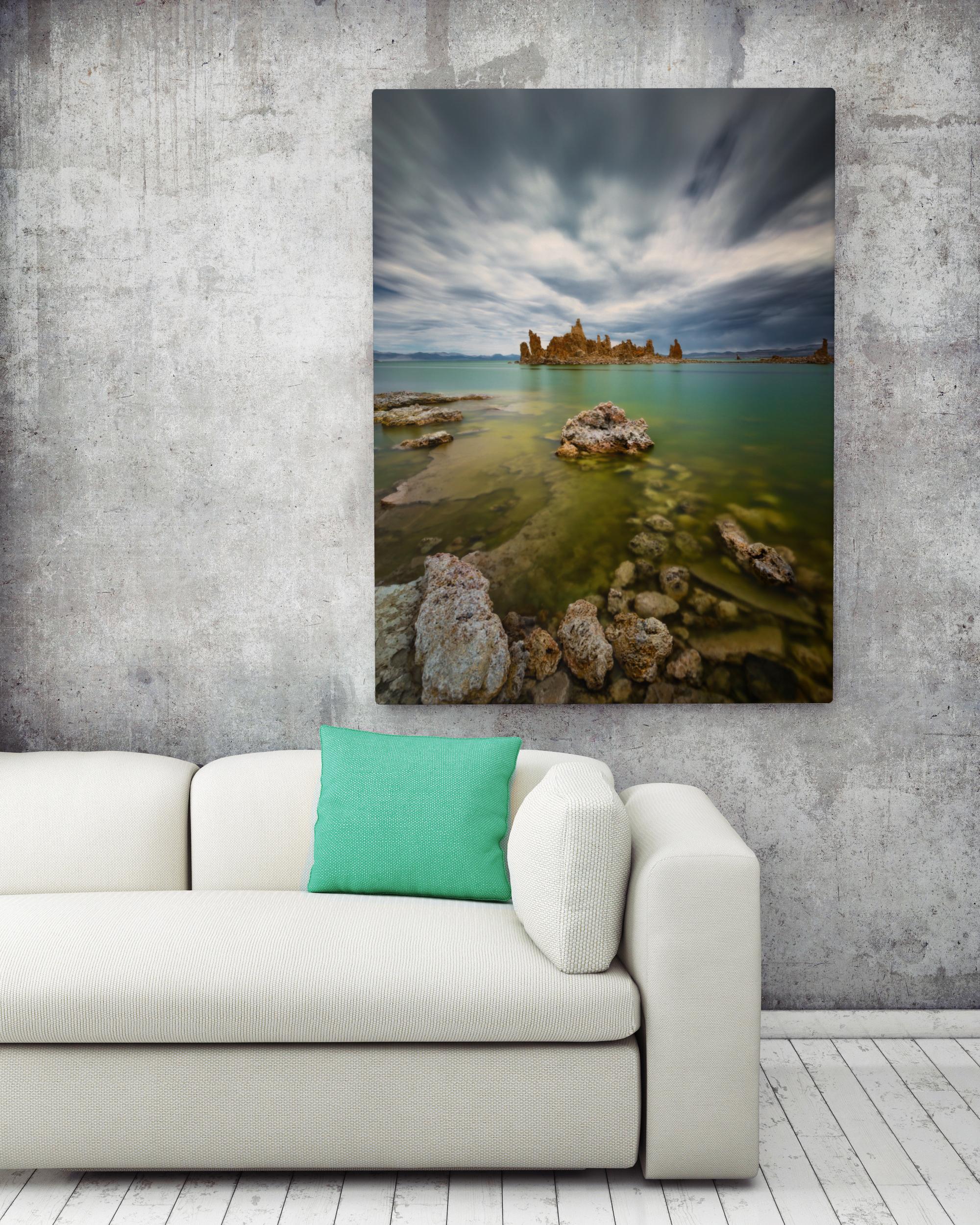 mock up poster in hipster interior background, 3D render