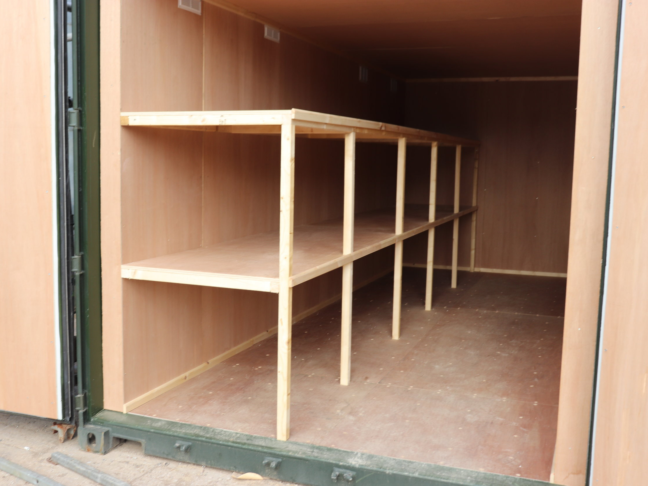 Fixed Wooden Shelving -