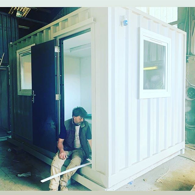 Finishing touches on this new build 12 foot office container conversion #containerconversion #homeoffice #siteoffice #businessspace