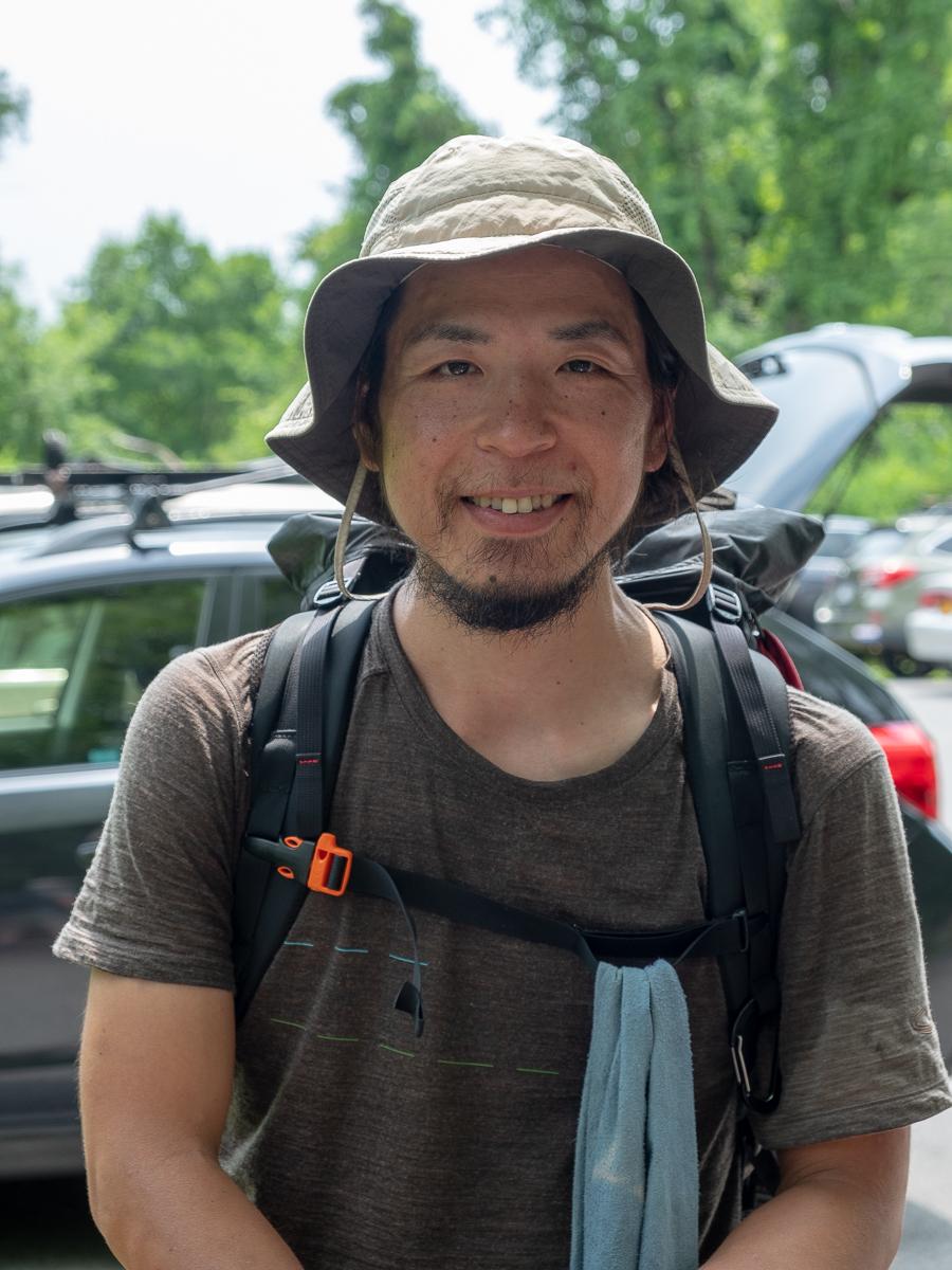 Northbound thru-hiker Sugar, from Japan.
