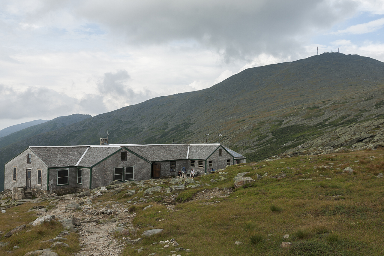 Lakes of the Clouds Hut and Mt. Washington, NH.