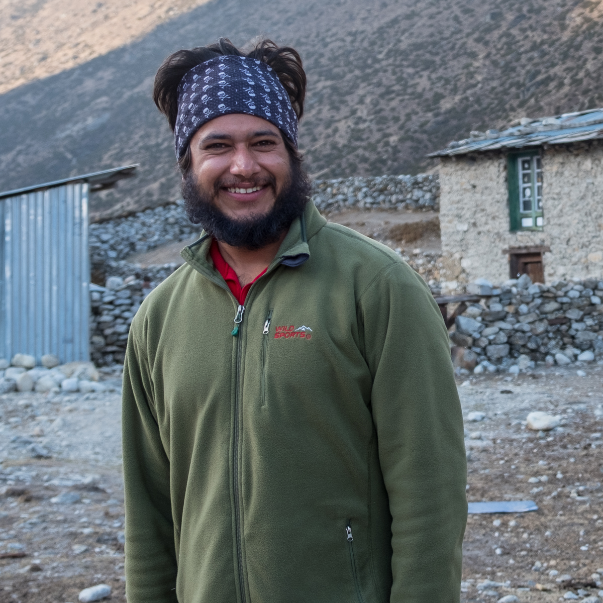 Thaneshwar, a Nepali doctor in his 7th year with the HRA.