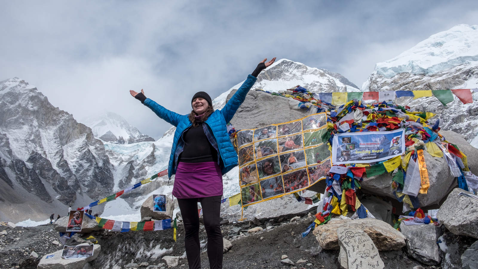 Mount Everest mo-fo'in Base Camp!