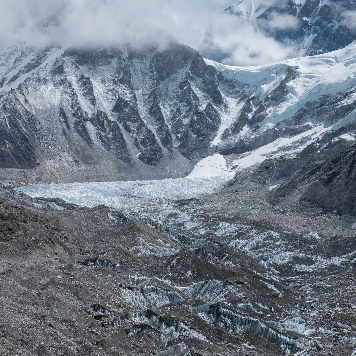 The Khumbu Glacier, Nepal Himalayas.