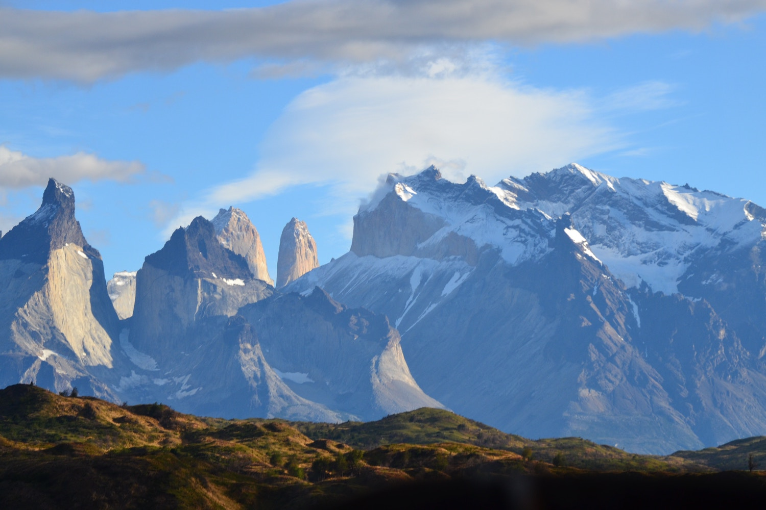 Torres del Paine - From El Calafate, it's just a few hours' drive to Puerto Natales, the gateway to Chile's Torres del Paine National Park. You've come all this way, so you might as well do the unforgettable O Trek, which covers 130 km over seven days.This is one of our favorite treks for two reasons. First and most obvious, the scenery is why Patagonia is famous. Have you ever seen an ice field up close? Secondly, 7 days in the wilderness isn't as rough as it sounds when your destination each day is a charming refuge with great food and wine, and your mornings start with French Press coffee. Torres del Paine is challenging enough for seasoned hikers, yet comfortable enough for the beginners. Don't miss it.