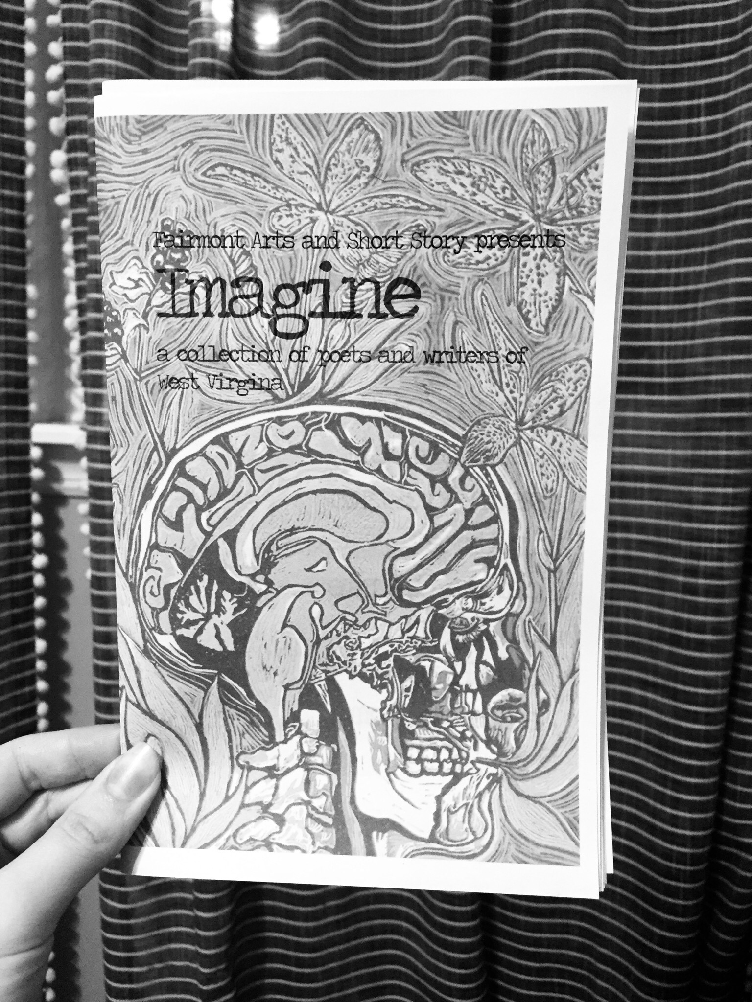 The zine, available at the brewery! (Make sure to put a dollar in the tip jar for it!)