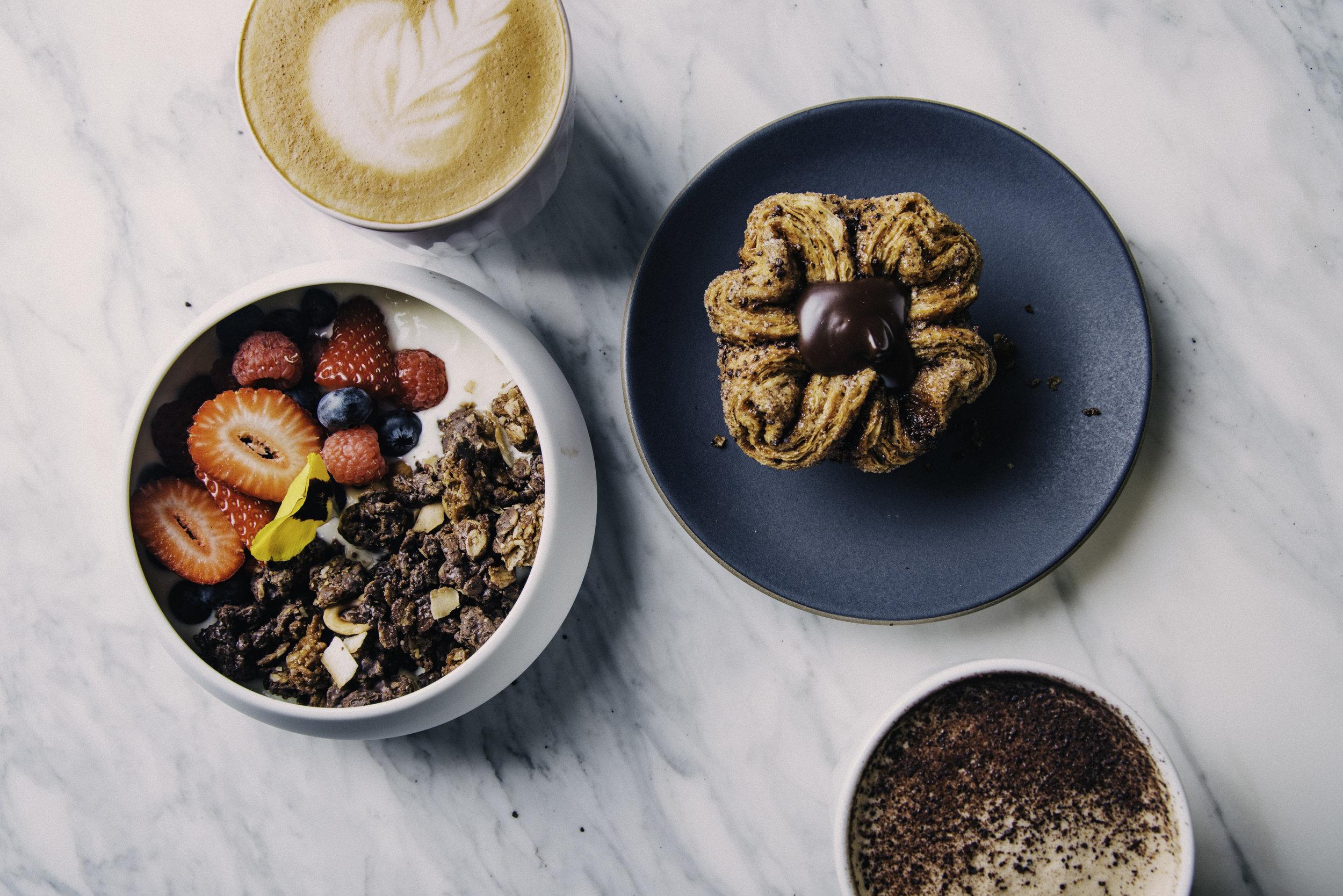 Bloom's breakfast offerings. Photo:  Eric Wolfinger